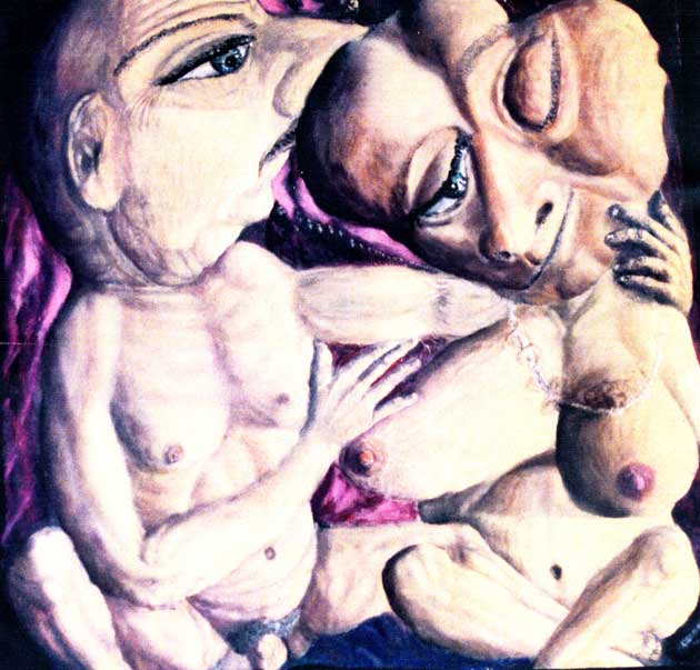"Alexander Kanevsky's ""Couple"", which stirred forth the US scandal on Art and Ideology in August 2000."